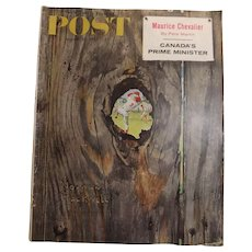 Saturday Evening Post Magazine  August 1958 -Norman Rockwell Cover