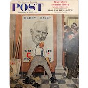 Saturday Evening Post Magazine  November 8 1958 -Norman Rockwell Cover
