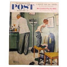 Saturday Evening Post Magazine  March 15 1958 -Norman Rockwell Cover