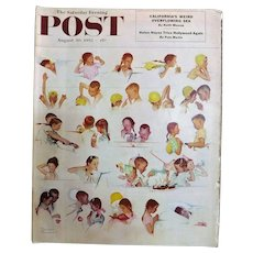 Saturday Evening Post Magazine  August 30 1952 -Norman Rockwell Cover
