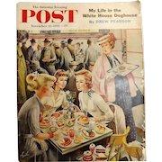Saturday Evening Post Magazine  November 10 1956 - Abajalov Cover