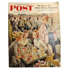 Saturday Evening Post Magazine  November 10 1956 - Abajalov Cover