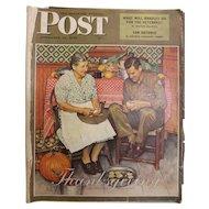 Saturday Evening Post Magazine - Nov. 24 1945  - Norman Rockwell Cover