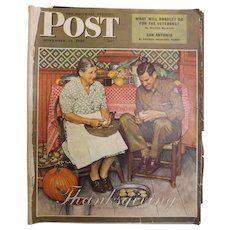 Saturday Evening Post Magazine - Nov. 24 1945  - Norman Rockwell Cover