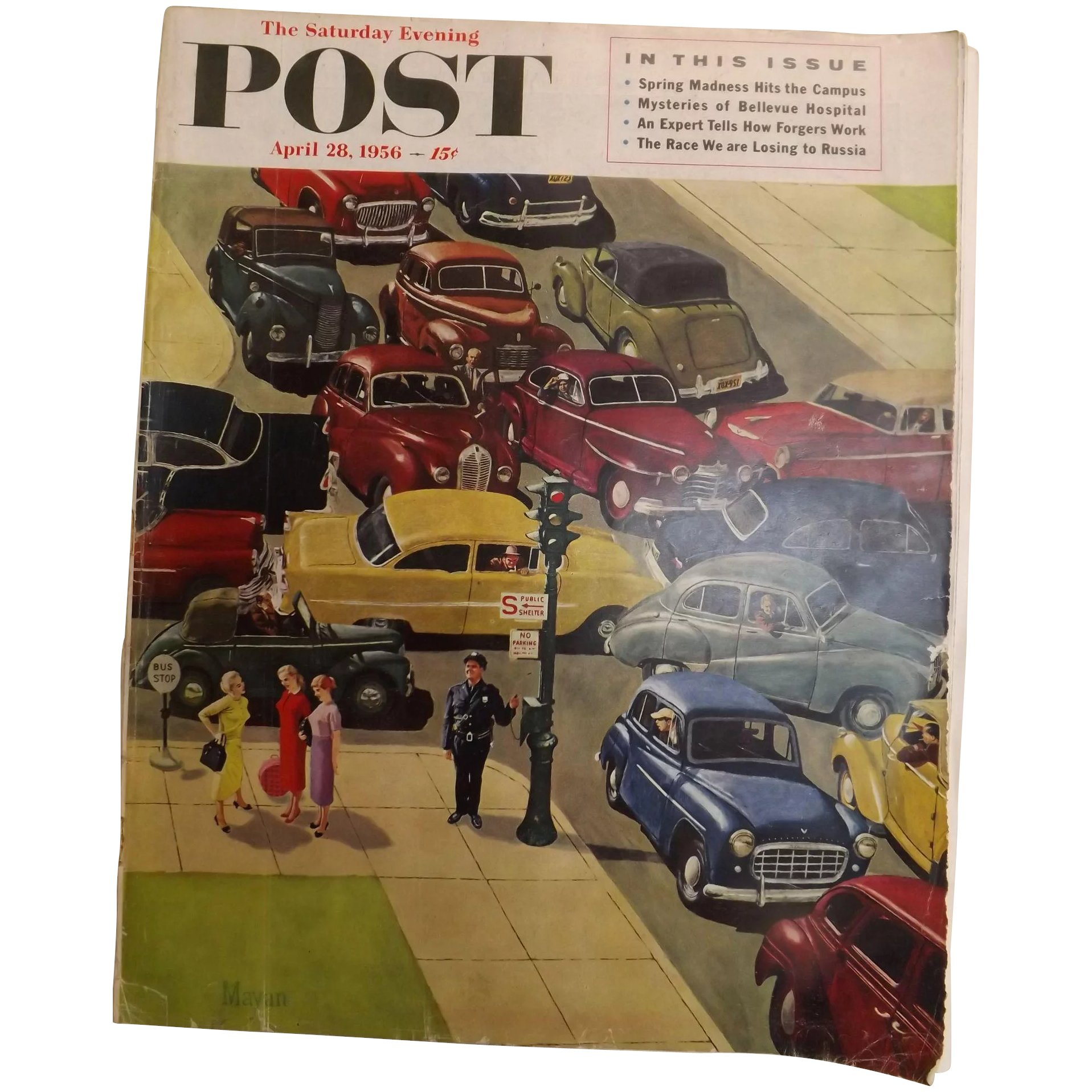 Saturday Evening Post Magazine - 28 April 1956 - Norman Rockwell Cover