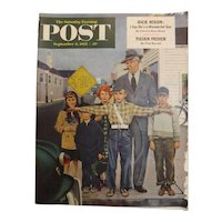 Saturday Evening Post Magazine - Sept. 6 1952  - Norman Rockwell Cover