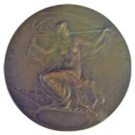 Large Bronze Medallion -Exposition Universelle -1905 Leige
