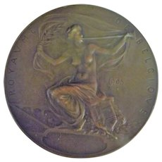 Large Bronze Medallion -Exposition Universelle -1905 Leige