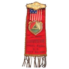 1904 Tri County FIREMEN'S Association Delegate Ribbon