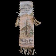FIREMEN'S Ribbon for Jefford's Hose & Central Hose 1889