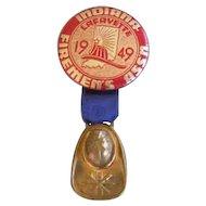 Firemen's Association Badge Indiana 1949