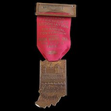 Firemen's Badge & Ribbon -Indiana Association Convention 1954