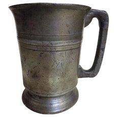 Georgian Pewter Pint Tankard