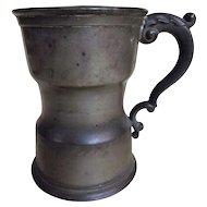 Victorian Pewter Pint Tankard