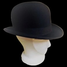 English Bowler Hat by G.A. Dunne of Piccadilly Circus London