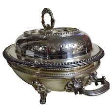 Gorgeous Victorian Silver Plated Warmer Serving Dish