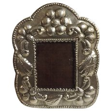 Lovely Peruvian 925 Sterling Grade Silver Photo Frame Circa 1940