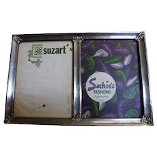 Large Peruvian 925 Sterling Grade Silver Double Photo Frame