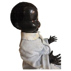 Large PEDIGREE Black Baby Doll - Made in New Zealand Circa 1950
