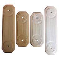 A Set of Four Victorian Ceramic Door Push Plates - Dates as 1892