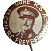 Lt. General B.C. Freyberg VC  - Tin Pinback Badge