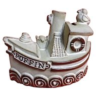PUFFIN Penny Bank - Cornish Pottery