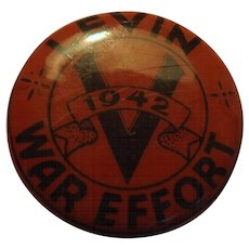 A 1942 WWII  War Effort Victory Badge - LEVIN - New Zealand