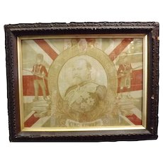 King Edward VII Framed Flag 1901