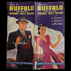 Buffalo & Niagara Falls Tourist Brochure - Circa 1950