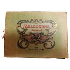 Melbourne Illustrated Tourist Brochure  Circa 1910