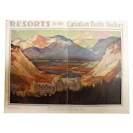Resorts in The Canadian Pacific Rockies-Tourist Brochure 1928