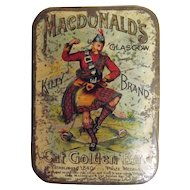 MacDonald's 'Kilty Brand' Cut Golden Bar Tobacco Tin