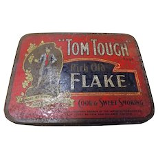 Tom Tough Rich Old Flake Tobacco Tin - Circa 1915