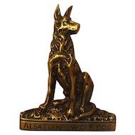 Alsatian Wolf Dog Brass Door Knocker