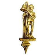 Southwold Jack Vintage Brass Door Knocker