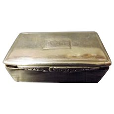 Early Victorian Sterling Silver Snuff Box - Birmingham 1840