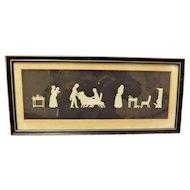 19 th Century Oblong Silhouette Circa 1840's