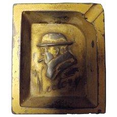 Winston Churchill Victory Small Metal Ashtray - Circa 1945