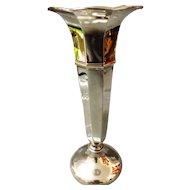 George V Sterling Silver Trumpet Vase - Birmingham 1920