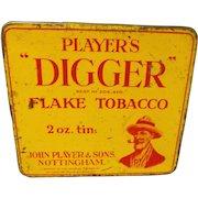 "Players ""DIGGER"" Flake 2 oz Tobacco Tin"
