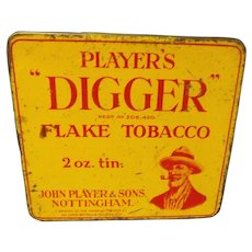 "Players ""DIGGER"" Flake 2 oz Tobacco Tin"