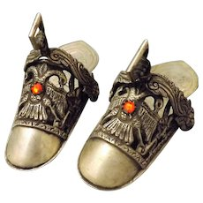 A Pair of Alpaca Silver Ladies Ceremonial Stirrup Shoes