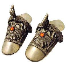 A Pair of Alpaca Silver Ladies Ceremonial Stirrup Shoes