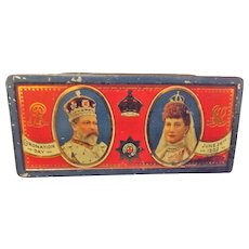 1902 Coronation Tin For Edward VII By Rowntree & Co