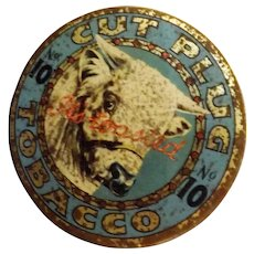 BULL No. 10 Cut Plug Toasted Tobacco Tin - Circa 1930