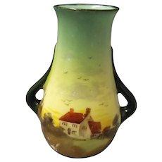 Royal Doulton Miniature Series Vase  -  English Countryside 1901-1922