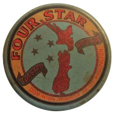 Four Star Toasted Navy Cut Tobacco Tin - New Zealand