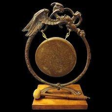 Victorian 'Scottish Dragon' Dinner Gong -Circa 1860 - 1870