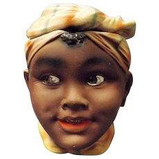 Black Girl Small Tobacco Jar -Japan Circa 1950's
