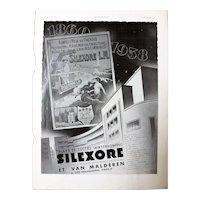 L'Illustration French Magazine Original  SILEXORE DECO Advertisement 1937